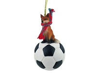 Fox Red Soccer Ornament