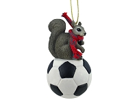 Squirrel Gray Soccer Ornament