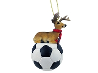 Deer Buck Soccer Ornament