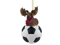 Moose Bull Soccer Ornament