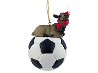 Elk Cow Soccer Ornament