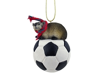 Badger Soccer Ornament