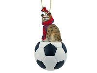 Bobcat Soccer Ornament