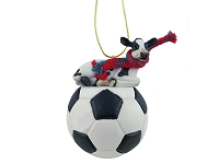 Holstein Cow Soccer Ornament
