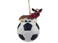 Guernsey Cow Soccer Ornament