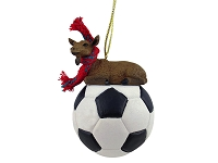 Goat Brown Soccer Ornament
