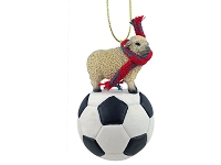 Sheep White Soccer Ornament