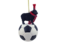 Sheep Black Soccer Ornament
