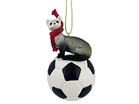 Ferret Soccer Ornament