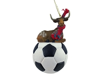 Long Horn Steer Soccer Ornament