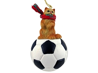 Red Persian Soccer Ornament