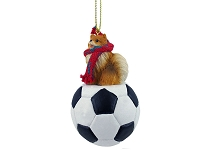Pomeranian Red Soccer Ornament