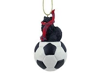 Pomeranian Black Soccer Ornament