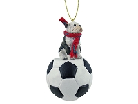 Bulldog Brindle Soccer Ornament
