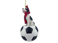 Pointer Black & White Soccer Ornament