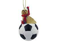 Lhasa Apso Blonde Soccer Ornament