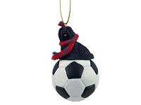 Lhasa Apso Black Soccer Ornament