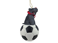 Kerry Blue Terrier Soccer Ornament