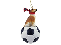 Collie Smoth Hair Soccer Ornament