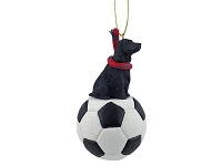 Cocker Spaniel English Black Soccer Ornament