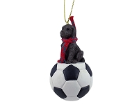 Labradoodle Chocolate Soccer Ornament