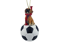Dog Soccer Ornaments