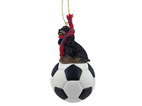 Cocker Spaniel Black & Tan Soccer Ornament