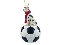 Great Dane Harlequin Soccer Ornament