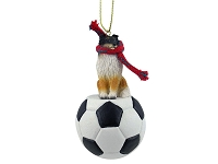 Sheltie Tricolor Soccer Ornament