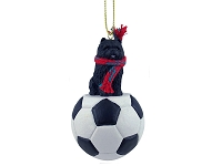 Chow Black Soccer Ornament