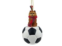 Chow Red Soccer Ornament