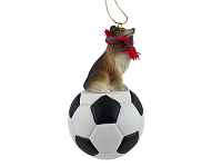Collie Sable Soccer Ornament