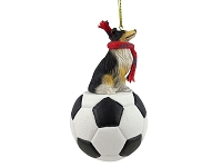 Collie Tricolor Soccer Ornament