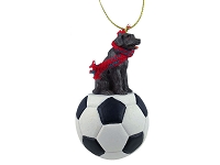 Labrador Retriever Chocolate Soccer Ornament