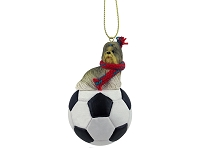 Shih Tzu Mixed Soccer Ornament