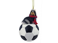 Shih Tzu Black & White Soccer Ornament