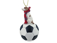 Brittany Brown & White Spaniel Soccer Ornament