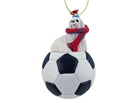 Maltese Soccer Ornament