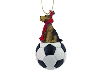 Airedale Soccer Ornament