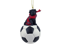 Shar Pei Black Soccer Ornament