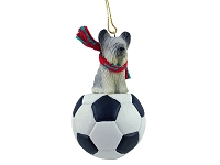 Skye Terrier Soccer Ornament