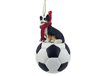 Welsh Corgi Cardigan Soccer Ornament