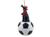 Greyhound Brindle Soccer Ornament