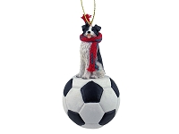 Border Collie Soccer Ornament
