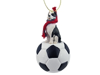 Pit Bull Terrier Brindle Soccer Ornament