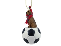 Bloodhound Soccer Ornament