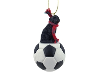 Portuguese Water Dog Soccer Ornament