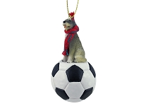 Irish Wolfhound Soccer Ornament