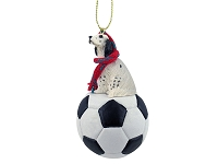 English Setter Belton Blue Soccer Ornament