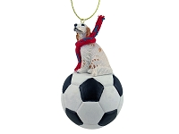 English Setter Belton Orange Soccer Ornament